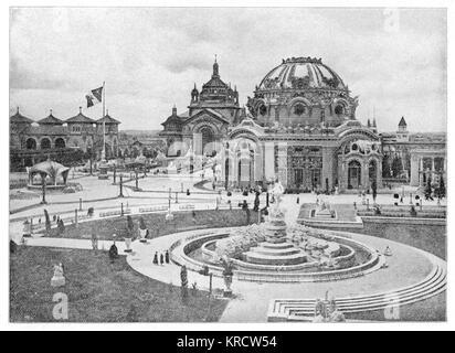 Buffalo, New York: Tempel der Musik Gebäude, in dem Präsident William McKinley während der Panamerikanischen Ausstellung - Stockfoto