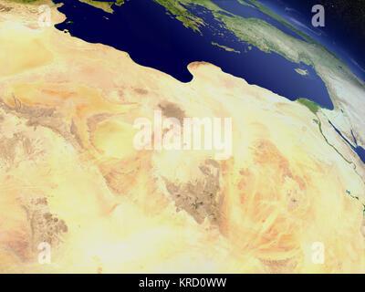 Libyen aus dem Weltraum - Stockfoto