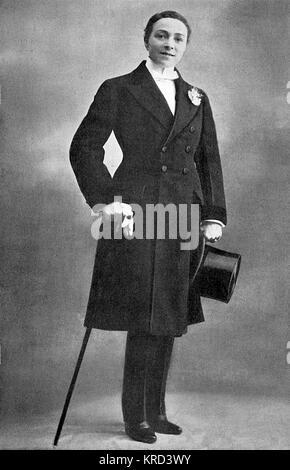 Vesta Tilley (geb. Matilda Alice Powles, 1864-1952), später Dame de Frece, Music Hall Entertainer, am Besten für - Stockfoto