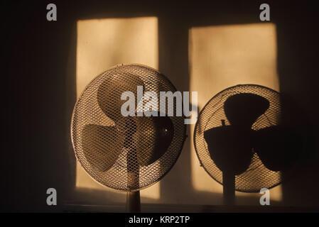 Am frühen Morgen Licht auf Lüfter mit Schatten - Stockfoto