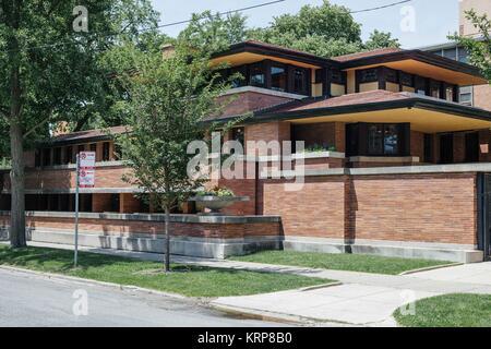Frederick C. Robie House von Frank Lloyd Wright - Stockfoto