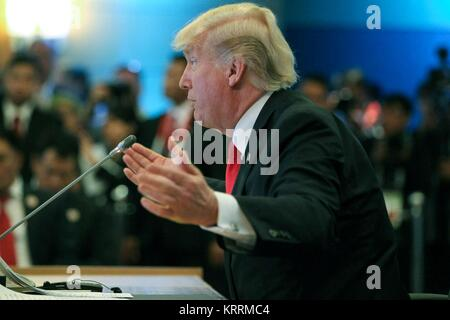 Us-Präsident Donald Trump spricht während des 5 Verband Südostasiatischer Nationen (ASEAN) - US- Commemorative Gipfeltreffen - Stockfoto