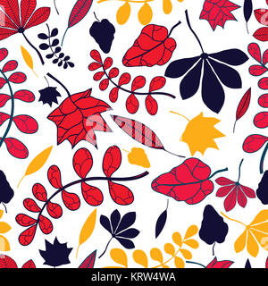 nahtlose herbstliche Blätter-Muster - Stockfoto