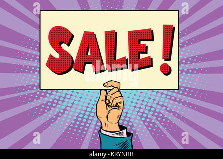 Hand Verkauf, Plakat