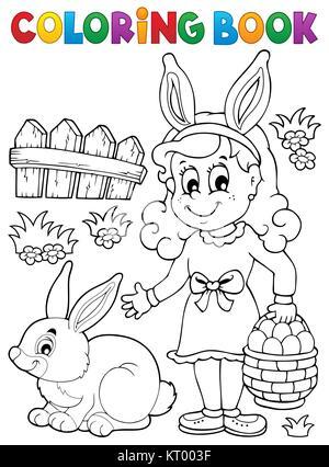 Malvorlagen Ostern Thema Bild 2 - Stockfoto
