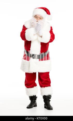 Santa Claus posing und gestikulierend - Stockfoto