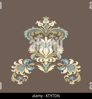 Bunte Damast floral Elements design pattern Hintergrund - Stockfoto