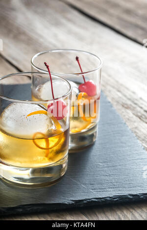 Old Fashioned Cocktails - Stockfoto