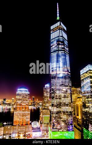 Das One World Trade Center Freedom Tower in New York - Stockfoto