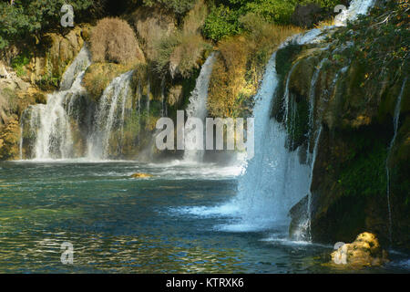 Wasserfälle im Krka Nationalpark in Kroatien - Stockfoto