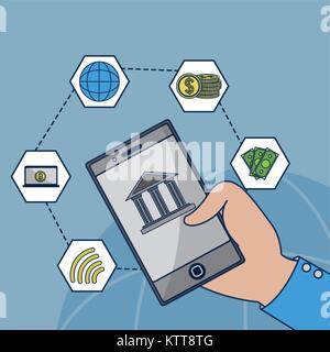 Fintech Industrie Design - Stockfoto