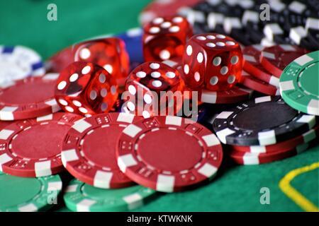 Ein Konzept Bild eines Poker Tisch - Stockfoto
