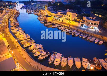 Historischen alten Hafen, Ciutadella, Menorca, Balearen, Spanien, Mittelmeer, Europa - Stockfoto