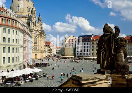 Dresden, Touristenthighlight Touristenthighlight neuer Markt, Neumarkt - Stockfoto