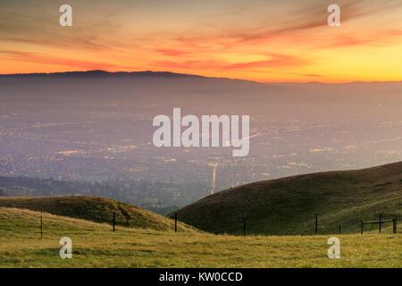 Silicon Valley goldenen Stunden - Stockfoto