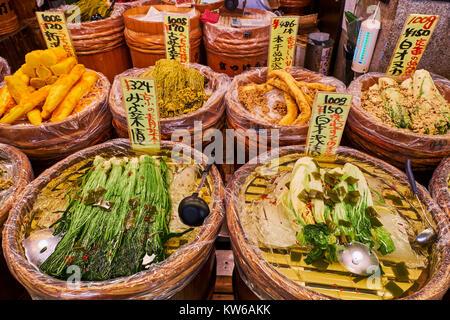 Japan, Honshu Island, Region Kansai, Kyoto, Nishiki Markt - Stockfoto