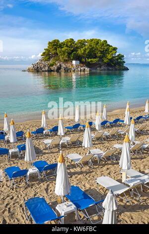 Strand Krioneri, Parga, Ionische Küste, Griechenland - Stockfoto