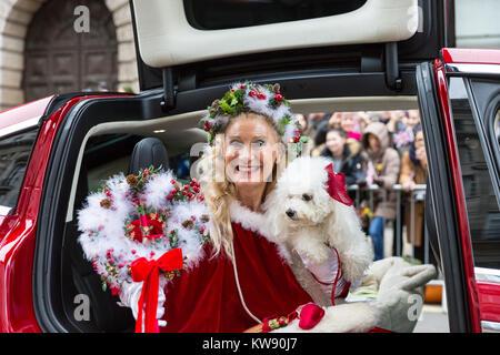 London, Großbritannien. 1 Jan, 2018. Miss Weihnachten, Donna Maria, eine lange Zeit, Teilnehmer und Unterstützer - Stockfoto
