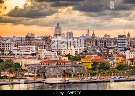 Havanna, Kuba Altstadt Skyline. - Stockfoto