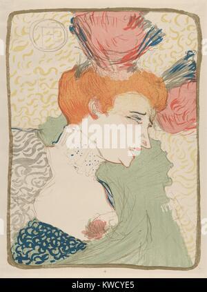 Mademoiselle Marcelle Lender, von Henri de Toulouse-Lautrec, 1895, French Post-Impressionist drucken. Die französische - Stockfoto