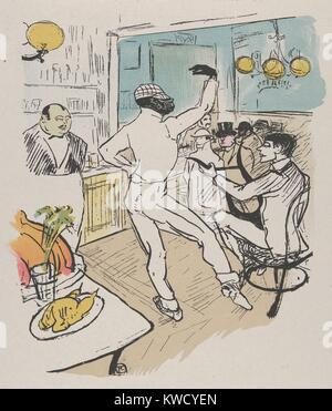 Chocolat Dansant, von Henri de Toulouse-Lautrec, 1896, French Post-Impressionist drucken. Diese Lithographie zeigt - Stockfoto