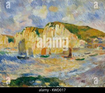 Meer und Klippen, von Auguste Renoir, 1885, französischer impressionistischer Malerei, Öl auf Leinwand. Renoir malte - Stockfoto