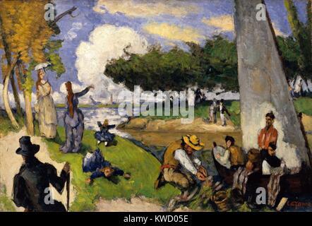 Fischer (fantastische Szene), von Paul Cezanne, 1875, French Post-Impressionist Öl Malerei. Diese imaginierte Szene - Stockfoto