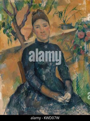 Madame Cezanne, Paul Cezanne, 1891, French Post-Impressionist Malerei, Öl auf Leinwand. Die Malerei ist die meisten - Stockfoto