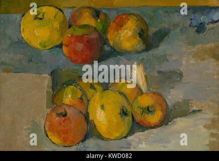 Äpfel, von Paul Cezanne, 1878-79 oder 1883-87, French Post-Impressionist Malerei, Öl auf Leinwand. Cezannes Händler, - Stockfoto
