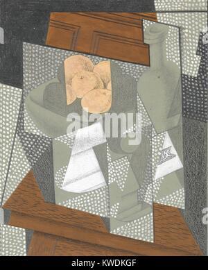 Die OBSTSCHALE, von Juan Gris, 1915-16, Spanisch kubistischen Graphit, Bienenwachs, Kreide, Gouache Zeichnung. Diese - Stockfoto