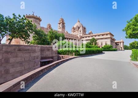 Umaid Bhawan Palace, Jodhpur, Rajasthan, Indien - Stockfoto
