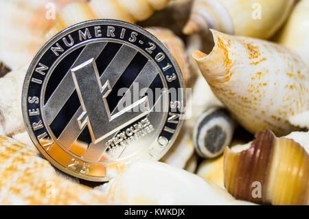 Litecoin ist eine moderne Art der Austausch und das crypto Währung ist ein bequemes Zahlungsmittel in der Finanz - Stockfoto