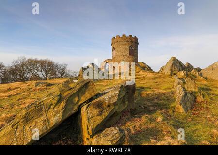 Alten John in der frühen Morgensonne in Bradgate Park, Leicestershire, England. - Stockfoto