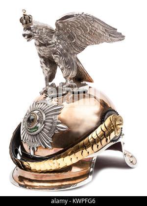 Officer's Preußischen M 1899 Helm der Garde du Corps oder Garde Regiment Kurassiere - Stockfoto