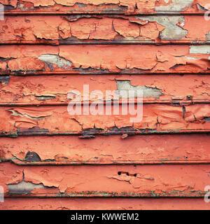 Grunge rote hölzerne Wand, Quadratische Hintergrund Foto Textur - Stockfoto