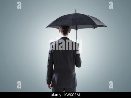 Darstellung der depressiven Geschäftsmann - Stockfoto