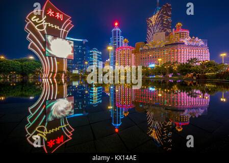 Nachtansicht von Macau - Stockfoto