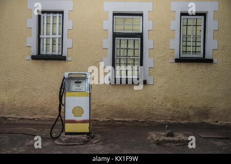 Ein Jahrgang Benzin pumpe im nördlichen Kap, Südafrika - Stockfoto
