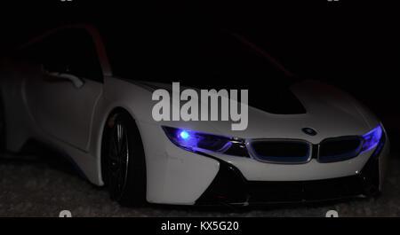 Bild eines BMW i8 - Stockfoto