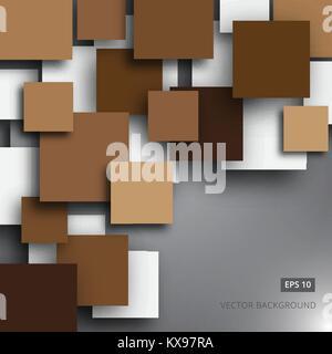Leeres quadrat Hintergrund für Ihren Text realistische 3D-Vektor - Stockfoto