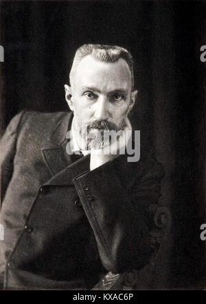 Pierre Curie, französischer Physiker, ein Pionier in der Kristallographie, Magnetismus, piezoelektrizität und Radioaktivität. - Stockfoto