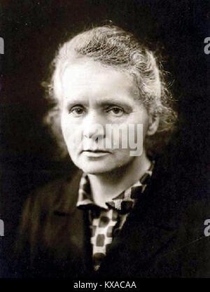 Marie Curie Marie Skłodowska Curie (/ˈKjʊəri/; [3] Französisch: [kyʁi]; Polnisch: [kʲiˈri]; geboren Maria Salomea - Stockfoto