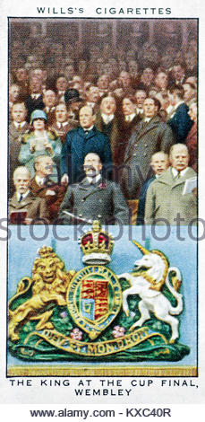 Die Regierungszeit von König George V - der König an der cup Wembley 1927 - Stockfoto