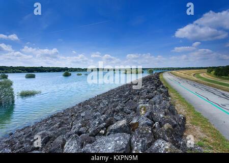 Frankreich, Aube (10), Champagner, Parc naturel régional de la Forêt d'Orient, Lac du Temple // Frankreich, Calvados, - Stockfoto