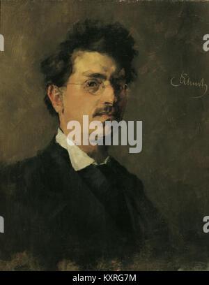 Carl Schuch, Selbstportät 1876 - Stockfoto
