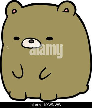 Cute cartoon traurige Bär - Stockfoto