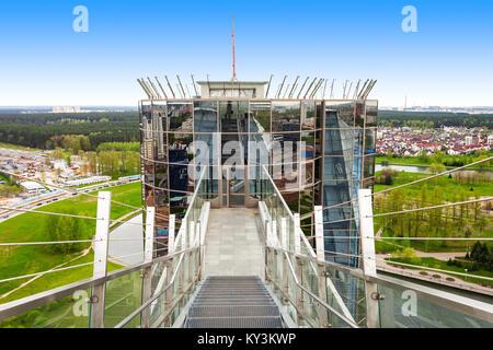 MINSK, Weißrussland - Mai 06, 2016: Der nationalen Bibliothek von Weißrussland Observation Deck. Es ist jetzt in - Stockfoto