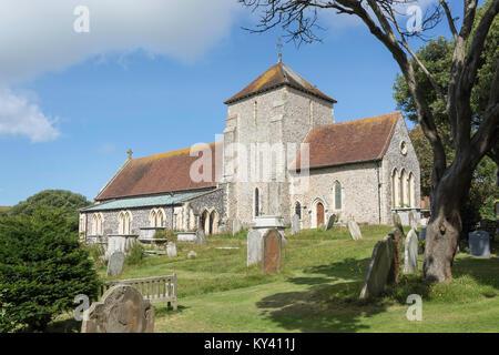 Die Pfarrkirche von Rottingdean, der Grünen, der Rottingdean, East Sussex, England, Vereinigtes Königreich - Stockfoto