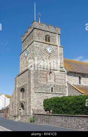 St Leonard's Kirche, Church Lane, Seaford, East Sussex, England, Vereinigtes Königreich - Stockfoto