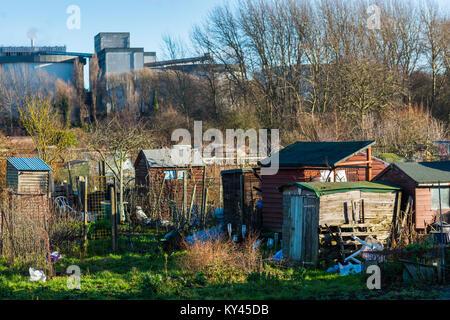 Zuteilungen in Bury St. Edmunds, Suffolk, England, UK. - Stockfoto